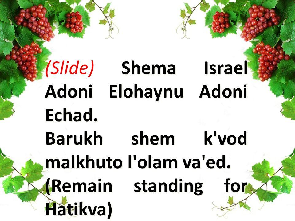 Shema Israel Adoni Elohaynu Adoni Echad. (Slide) Shema Israel Adoni Elohaynu Adoni Echad.