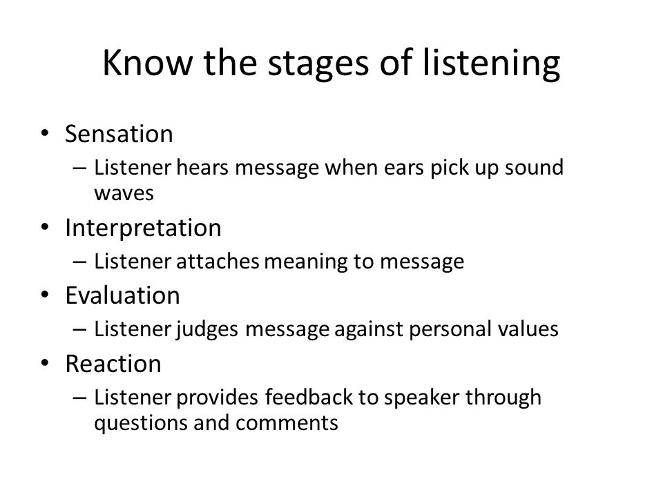 listening challenges Divided attention and distractions – Internal distractions – External distractions Shutting out the message The rush to judgment Partial hearing Learning disabilities