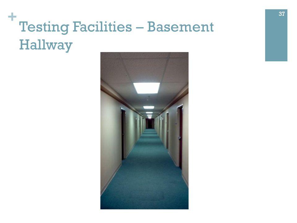 + Testing Facilities – Basement Hallway 37
