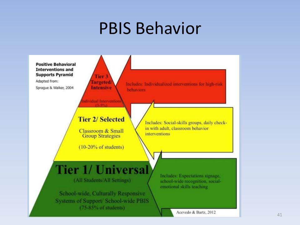 PBIS Behavior 41