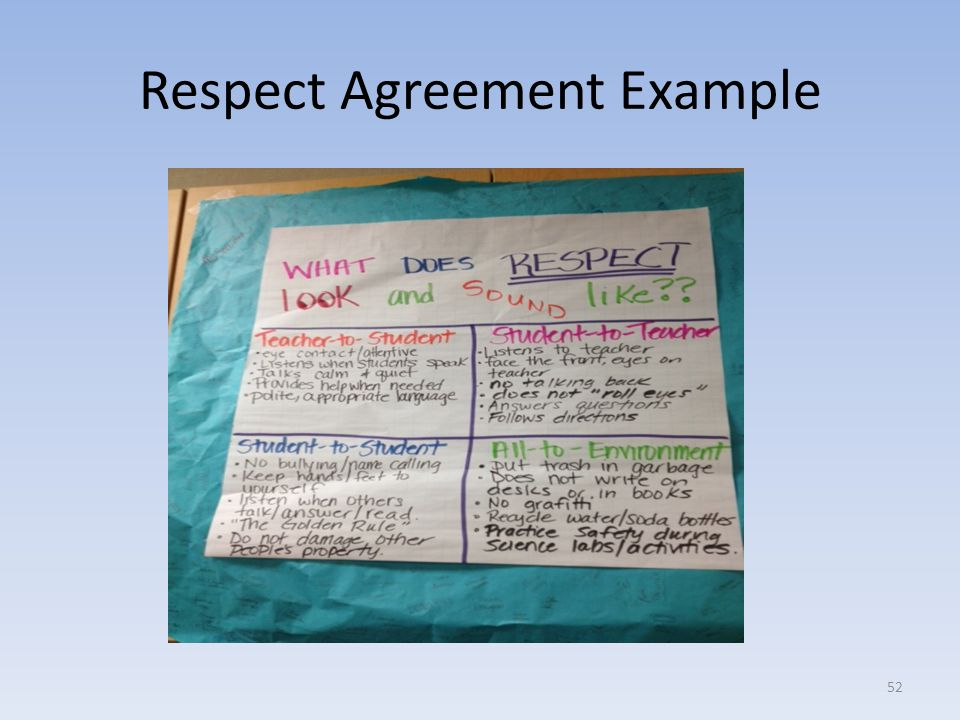 Respect Agreement Example 52