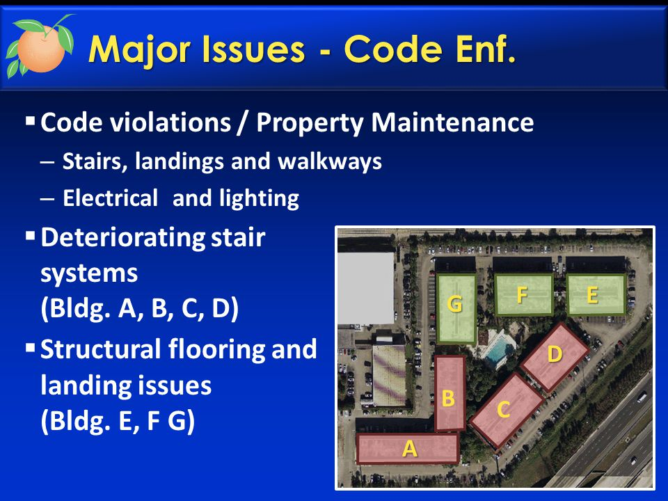 Major Issues - Code Enf.