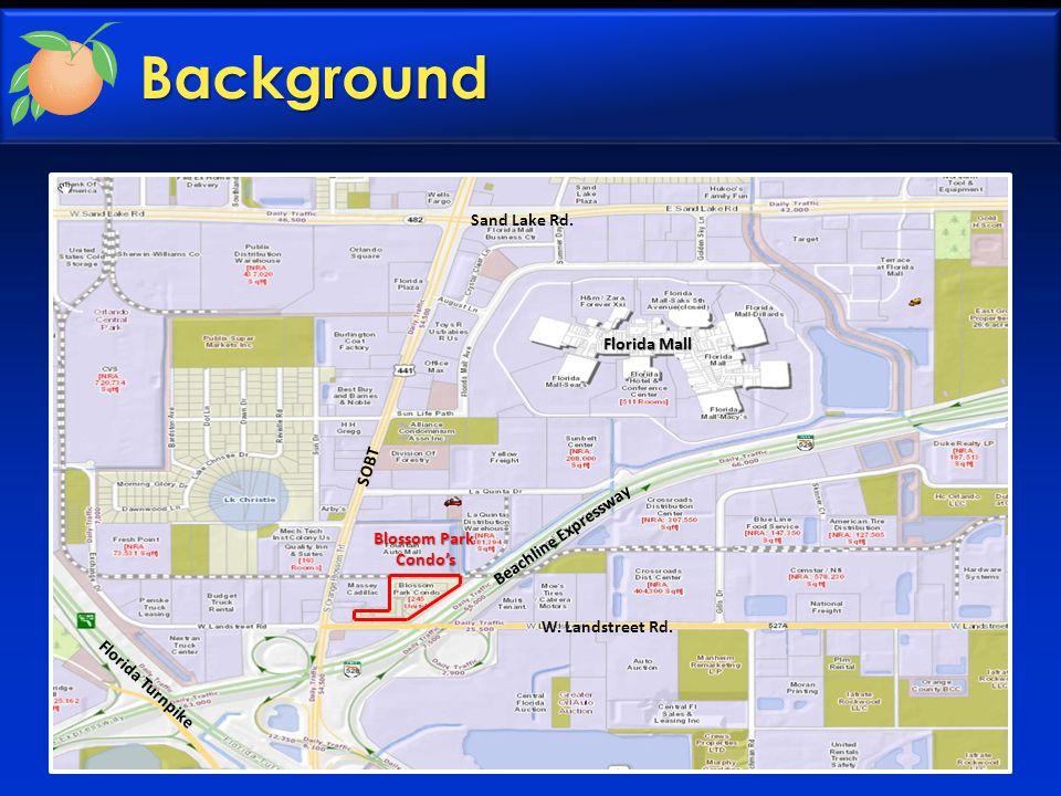 Background C Landstreet Road Massey Cadillac Massey Cadillac South Orange Blossom Trail Beachline Expressway Shell Waffle House A B D EF G Entrance C