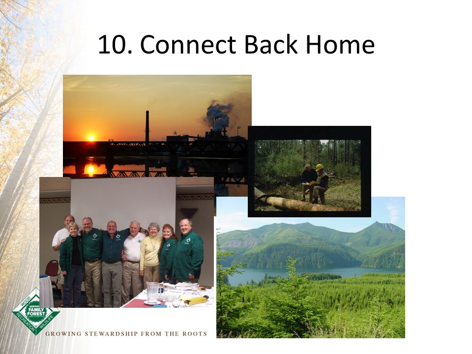 10. Connect Back Home
