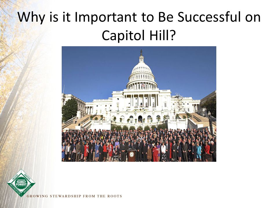 Why is it Important to Be Successful on Capitol Hill?