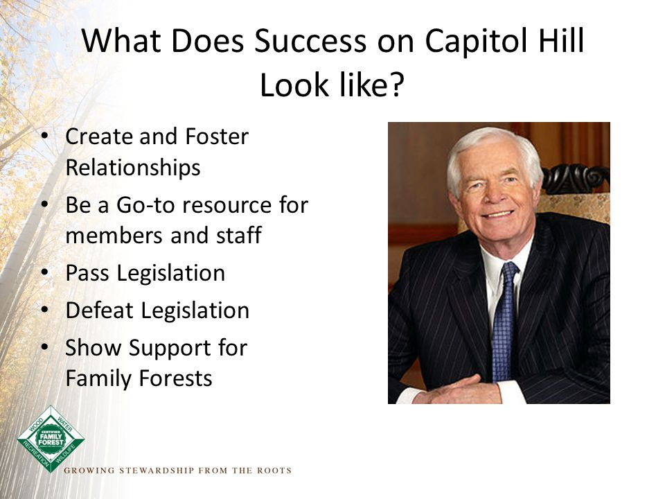 What Does Success on Capitol Hill Look like.
