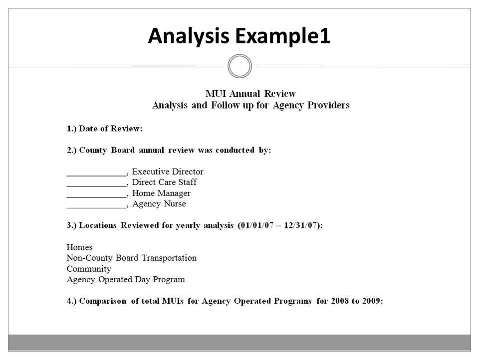 Analysis Example1