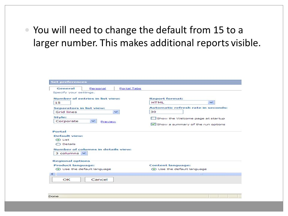 You will need to change the default from 15 to a larger number.