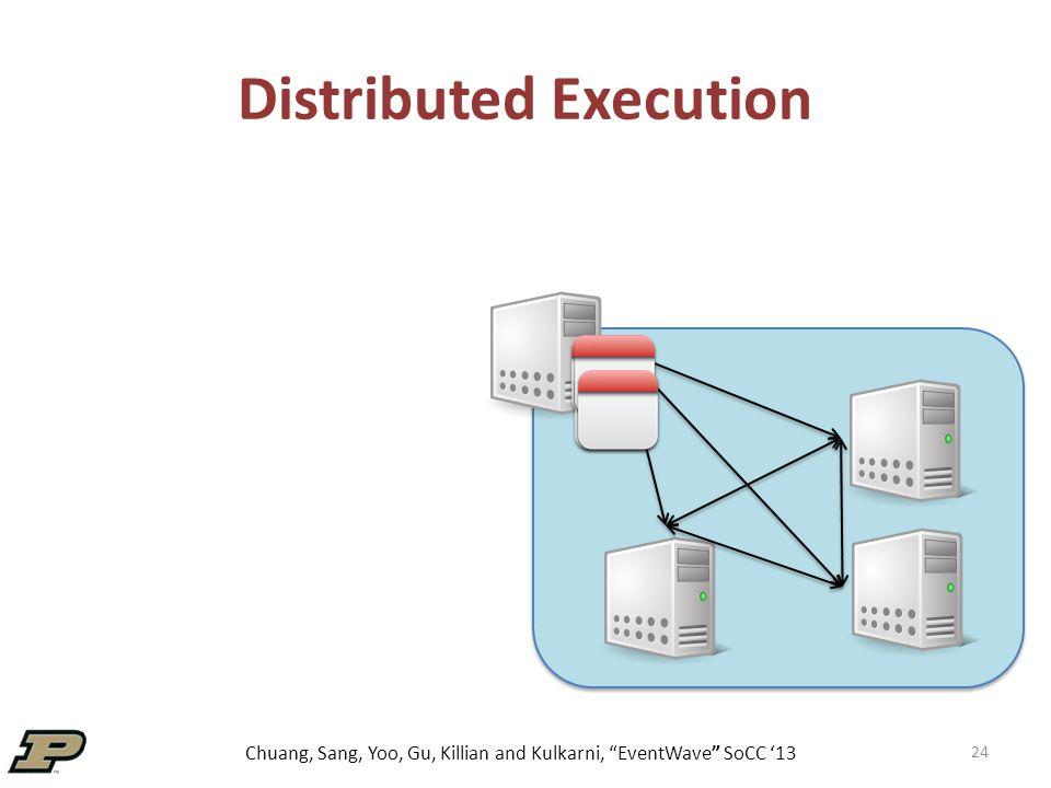 Chuang, Sang, Yoo, Gu, Killian and Kulkarni, EventWave SoCC '13 24 Distributed Execution