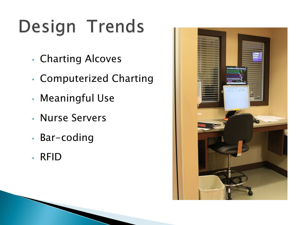 Charting Alcoves Computerized Charting Meaningful Use Nurse Servers Bar-coding RFID