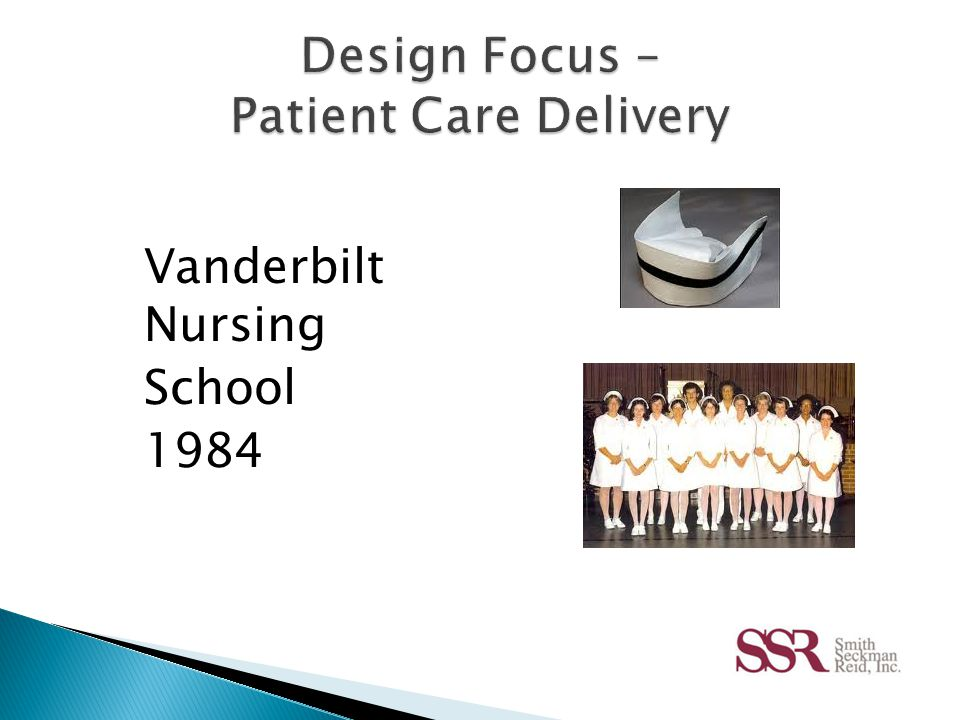  Healthcare Setting  Work Processes  Workforce Demographics  Culture and Geographic Location  Information Technology You have to understand how a nurse works in a room in order to design it well