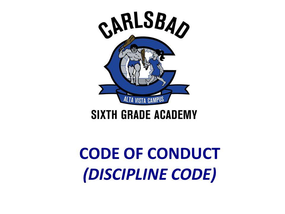 CODE OF CONDUCT (DISCIPLINE CODE)