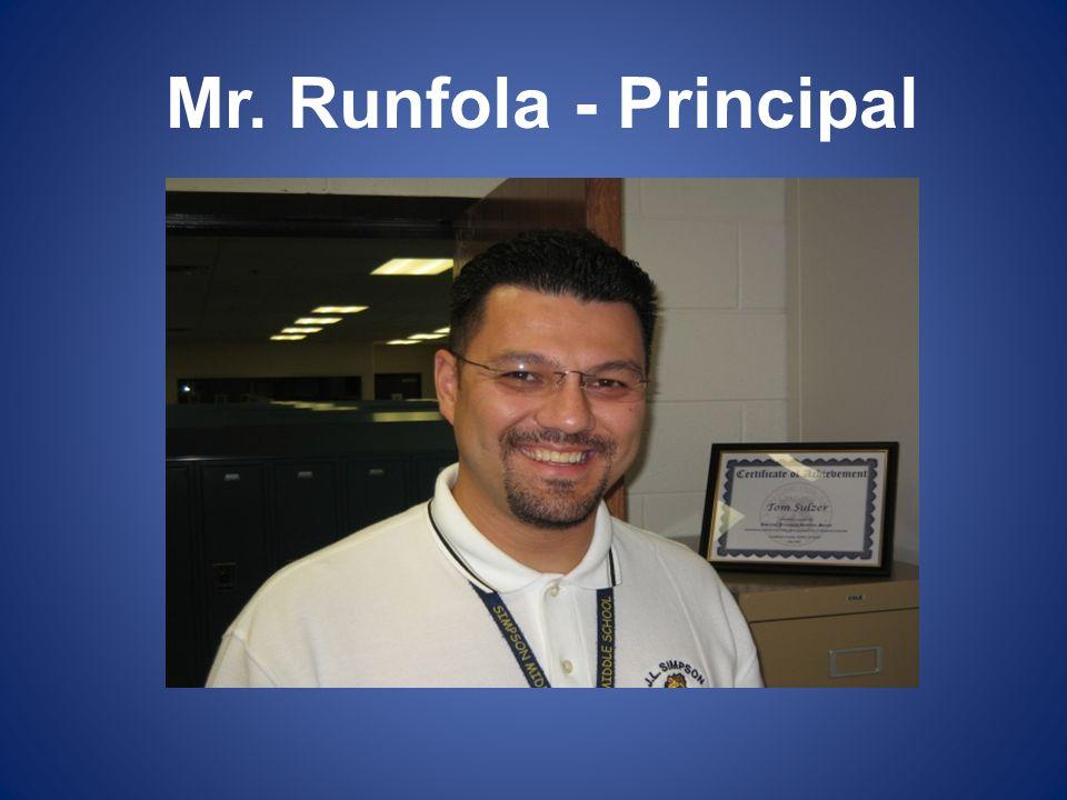 Mr. Runfola - Principal
