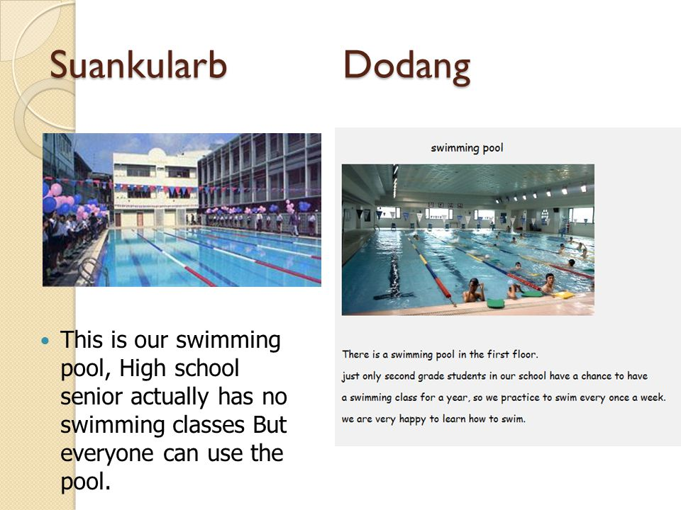 Suankularb Dodang Our gymnasium building has 4 floors.
