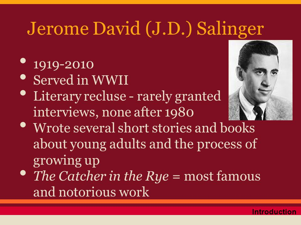 What is J.D Salinger's writing style in Catcher in the Rye?