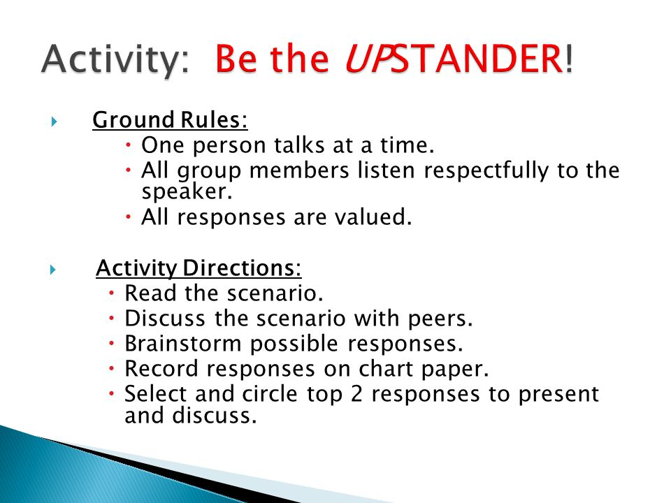 We recognize the challenges of being an Upstander and invite you to create a Public Service Announcement (PSA).