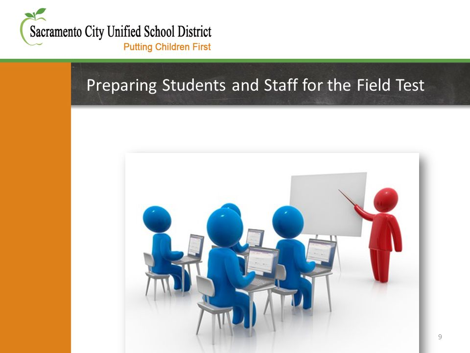 Preparing Students and Staff for the Field Test 9
