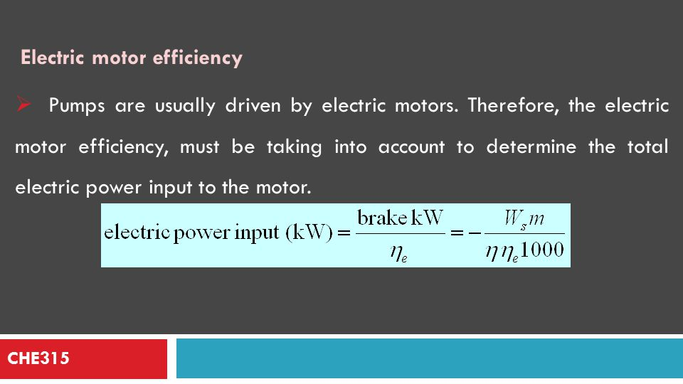 CHE315  The power calculated from mechanical energy balance depends on the pressure differences and not on the actual pressures.