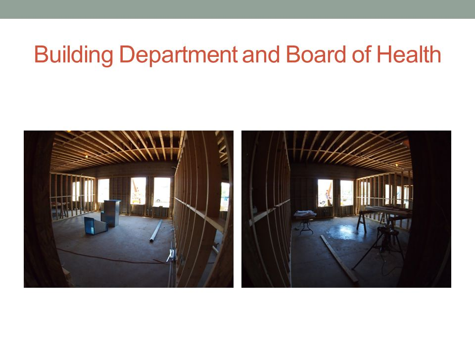 Building Department and Board of Health
