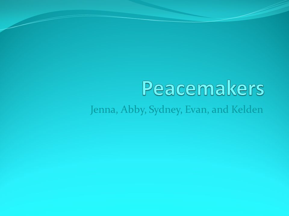 Office By: Sydney Greene Being a peacemaker in the office is waiting for Mrs.