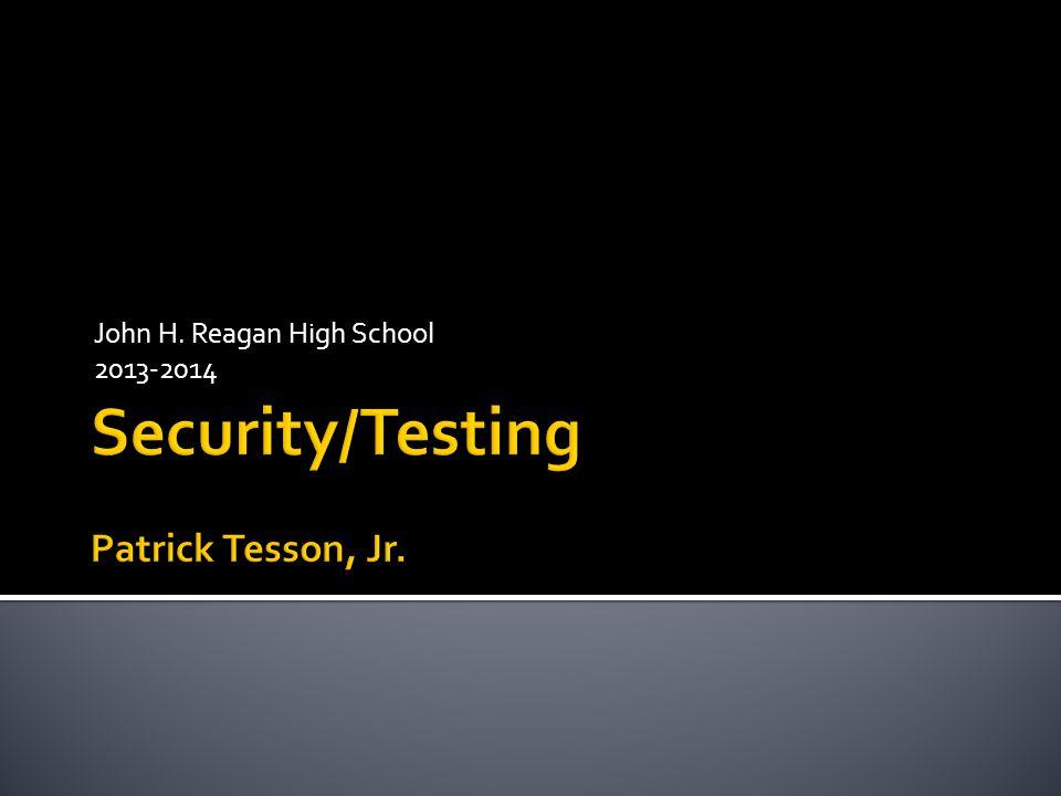 John H. Reagan High School 2013-2014