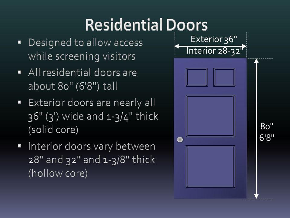 80 6 8 Exterior 36 Interior 28-32