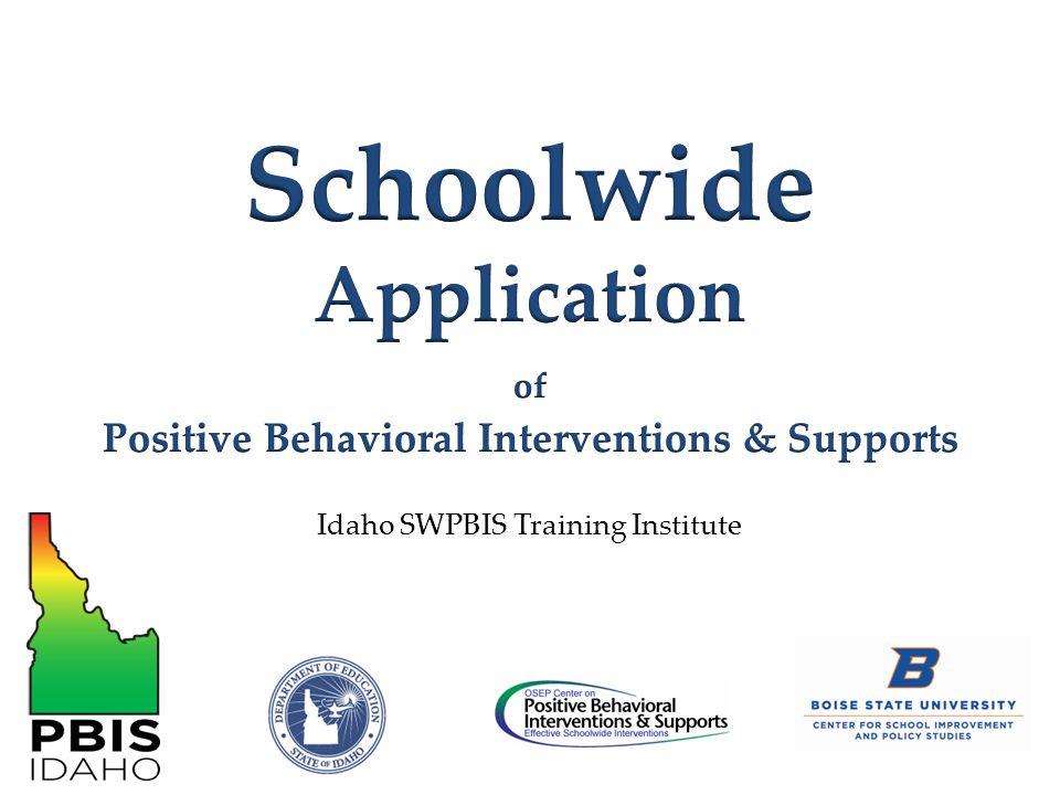 Idaho SWPBIS Training Institute