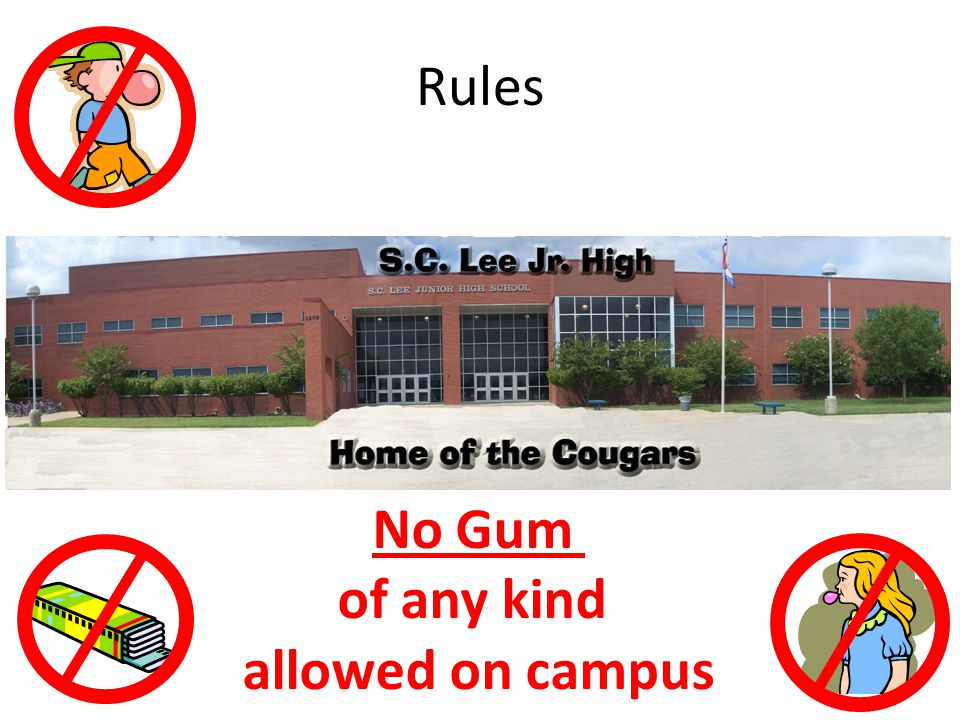 Rules Respect school property - there will be no defacing of school property Jack & Jill Yes No