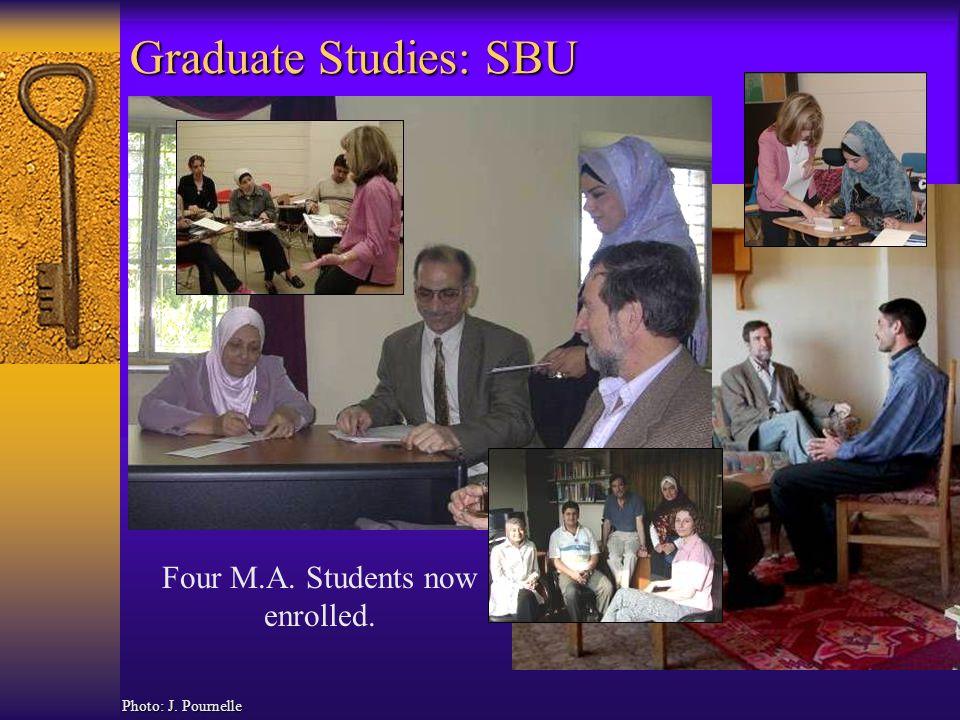 Graduate Studies: SBU Photo: J. Pournelle Four M.A. Students now enrolled.