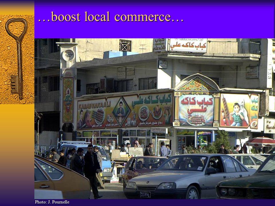 …boost local commerce… Photo: J. Pournelle
