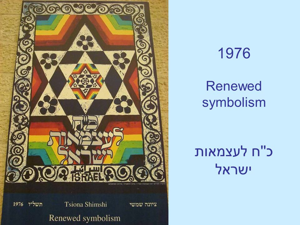 1976 Renewed symbolism כ''ח לעצמאות ישראל