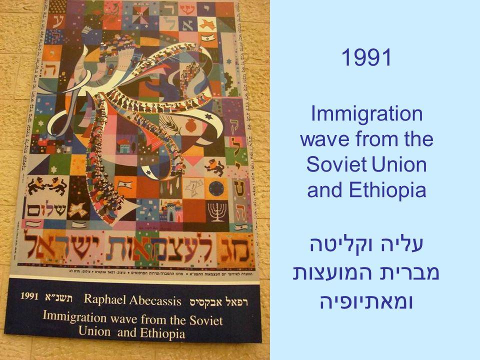 1991 Immigration wave from the Soviet Union and Ethiopia עליה וקליטה מברית המועצות ומאתיופיה