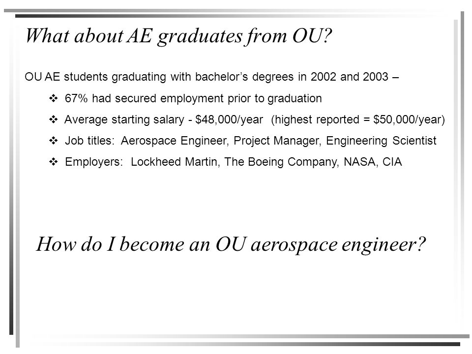 What about AE graduates from OU.