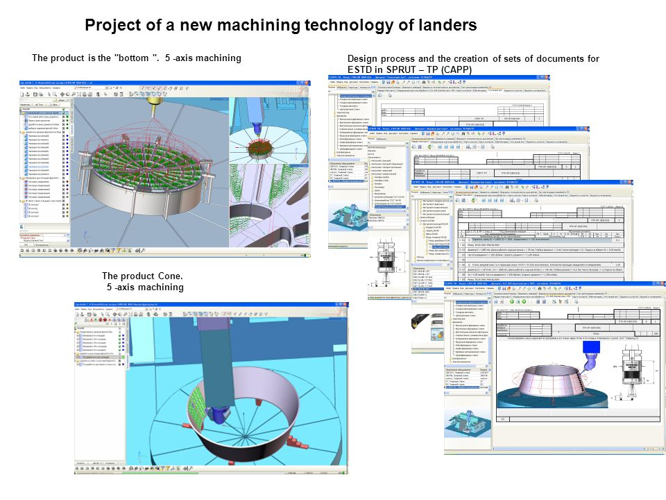 Project of a new machining technology of landers The product Cone.