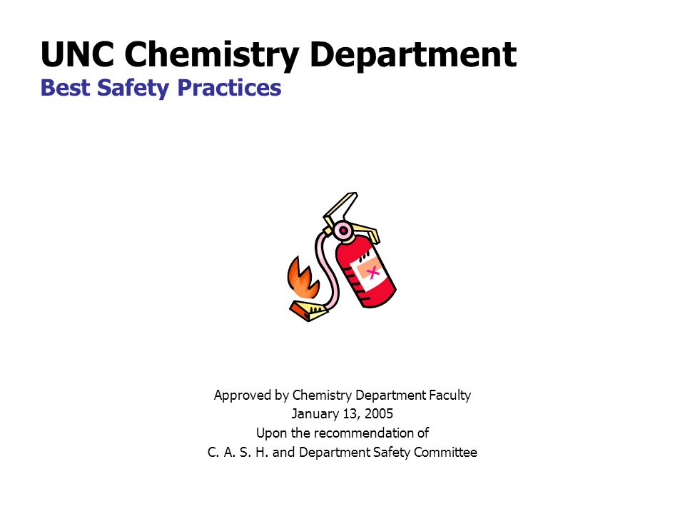 Approved by Chemistry Department Faculty January 13, 2005 Upon the recommendation of C.