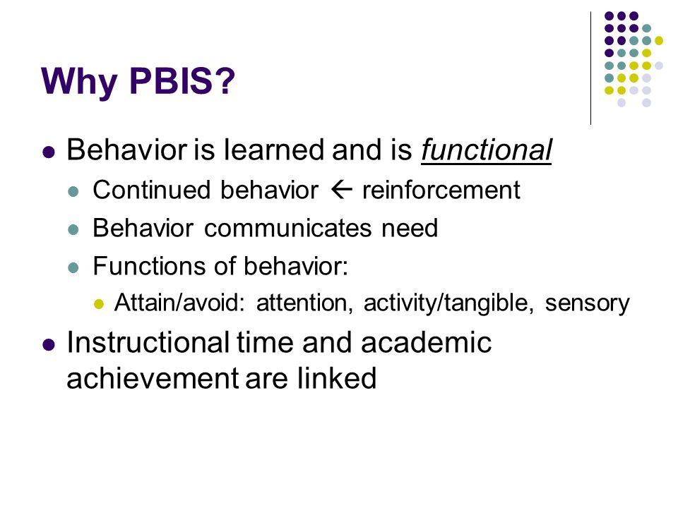 Why PBIS.