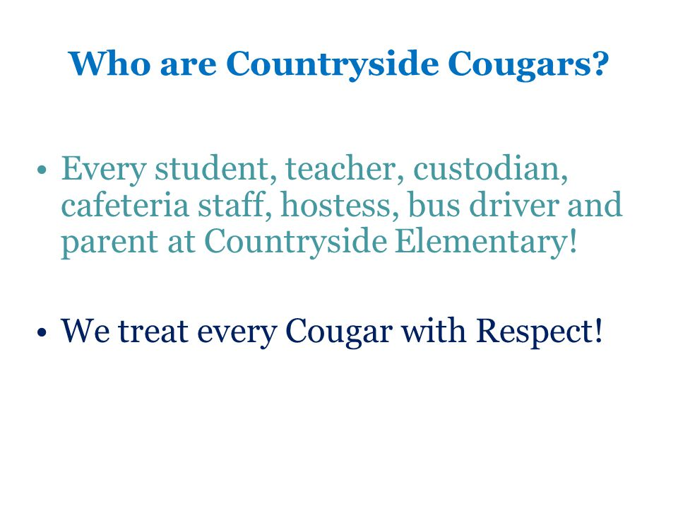 Who are Countryside Cougars.