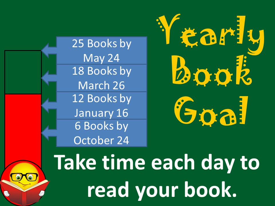 Yearly Book Goal Take time each day to read your book.