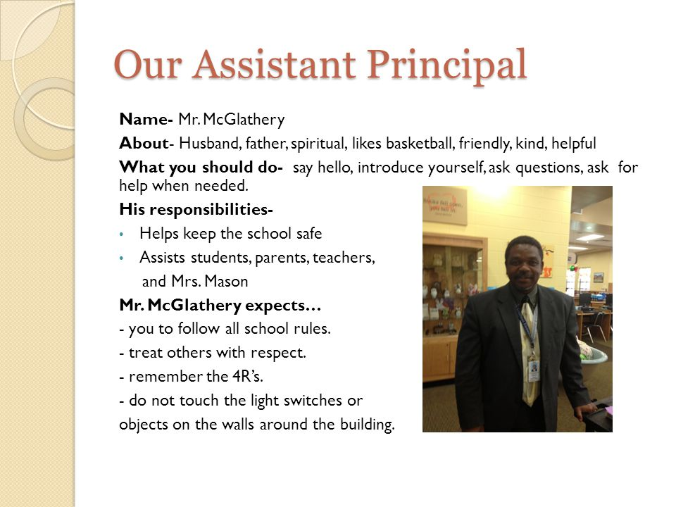 Our Assistant Principal Name- Mr.