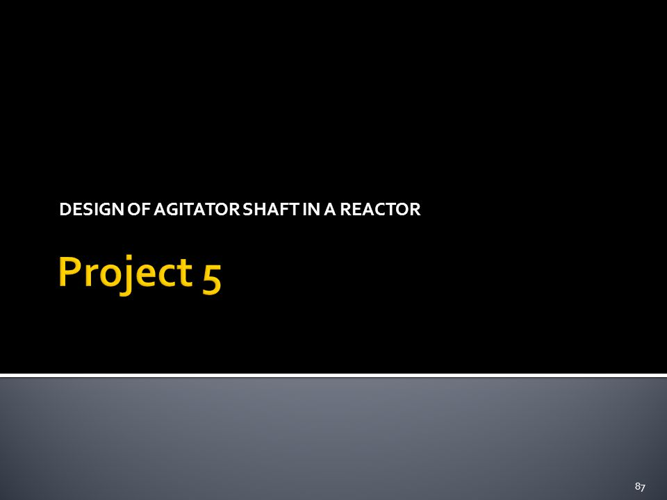 DESIGN OF AGITATOR SHAFT IN A REACTOR 87