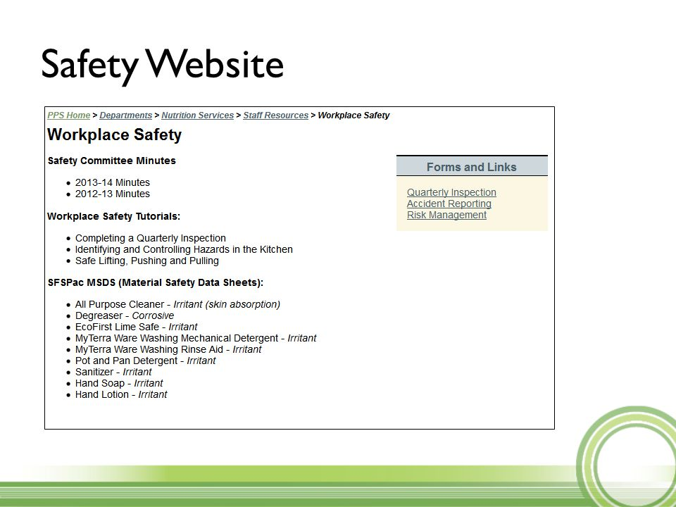 Safety Website