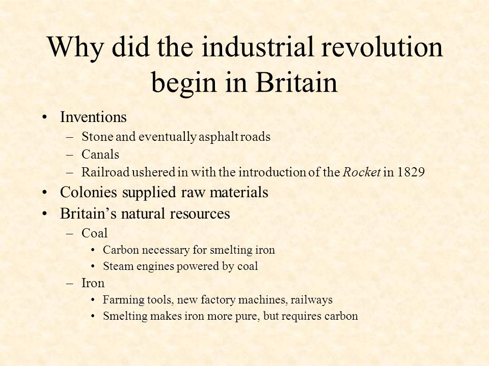 industrial revolution why did the industrial Discover how the industrial revolution transformed the us through advances in transportation, industry, and electrification.