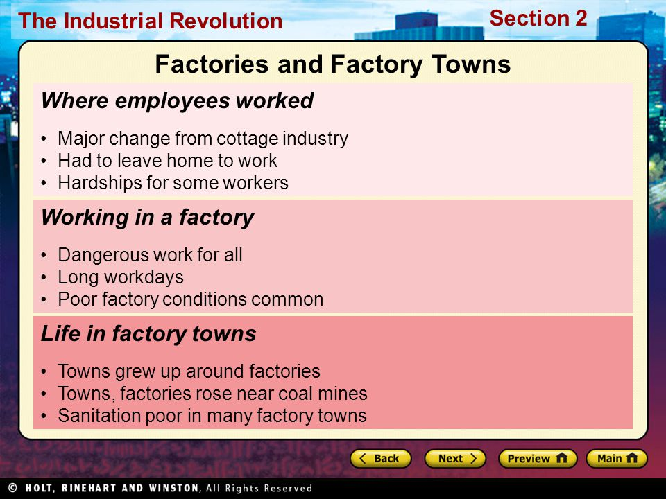 Section 2 The Industrial Revolution