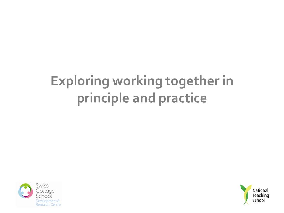 Exploring working together in principle and practice
