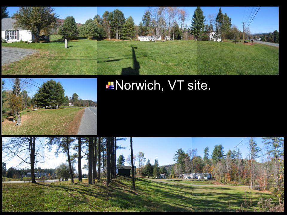 Norwich, VT site.