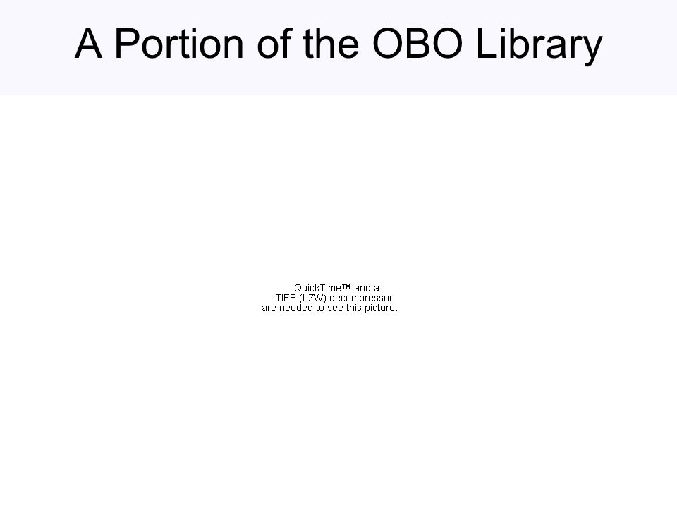 A Portion of the OBO Library