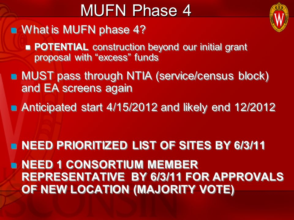 MUFN Phase 4 What is MUFN phase 4.