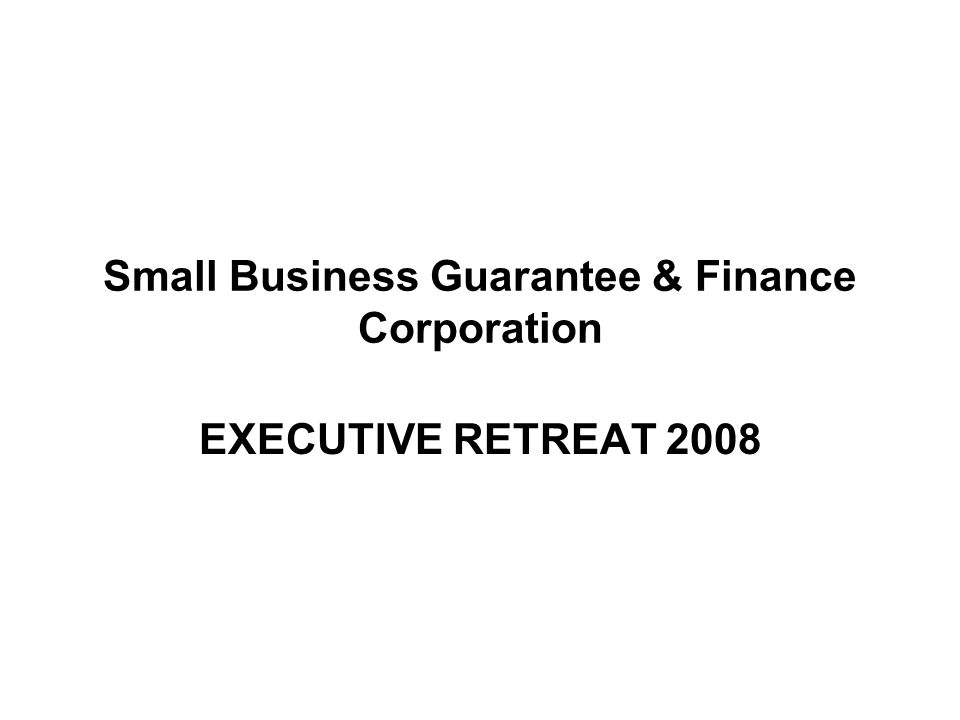 Small Business Guarantee & Finance Corporation Background Information The Corporation was established pursuant to State Law 3L-86-95, as amended or better known as Business Development Act of 1994 , which create a CORPORATE BODY to be know as Small Business Guarantee & Finance Corporation, which shall provide, promote, and widen in both scope and services reach various alternative modes of financing for cottage, small and medium-size enterprises including but not limited to direct and indirect project lending, venture capital, financial leasing, secondary mortgages and/or rediscounting of loan papers to small business.