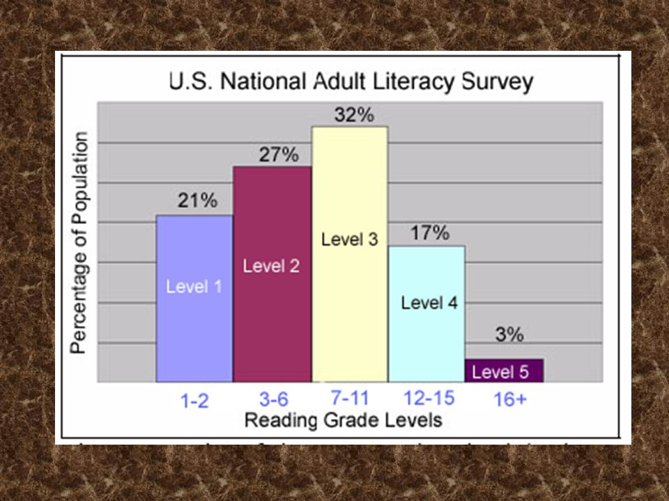 National Adult Literacy Survey Level 3