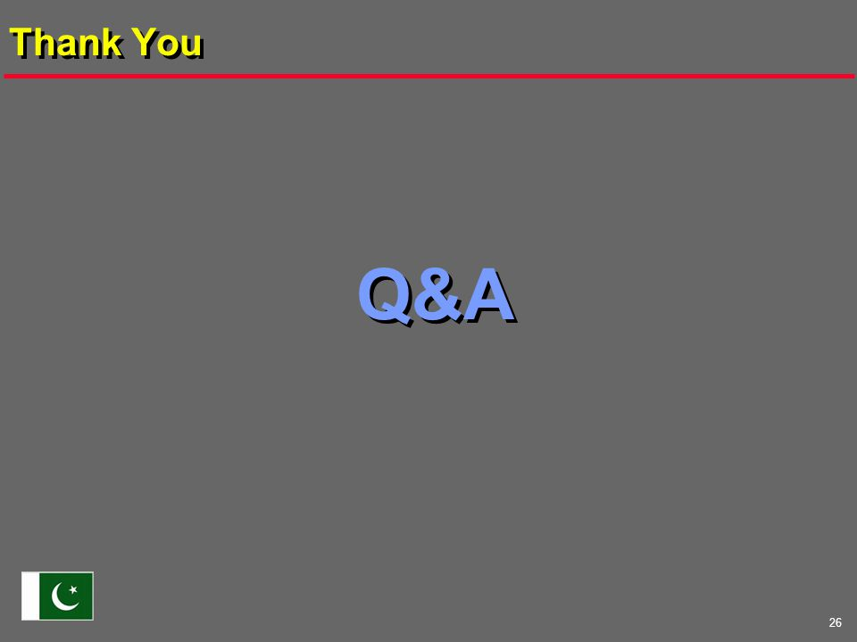 26 Thank You Q&A